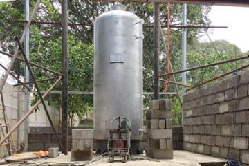 Vertica wood boiler, wood steam boiler, 500kg wood boiler